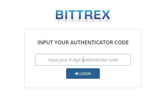 Đăng nhập Bittrex với Authenticator code