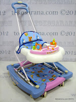 C 2 in One Royal RY8188 Circus Baby Walker and Rocker