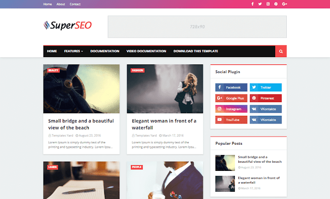 Download Free Premium Super Seo Optimized Blogger Template