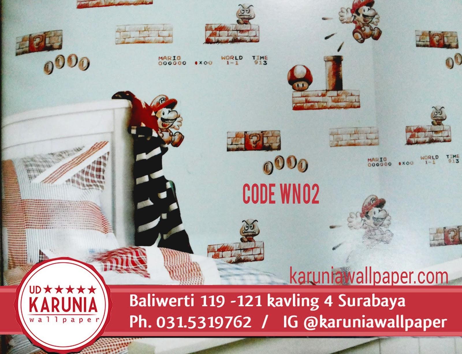 jual wallpaper kamar anak surabaya mario bros