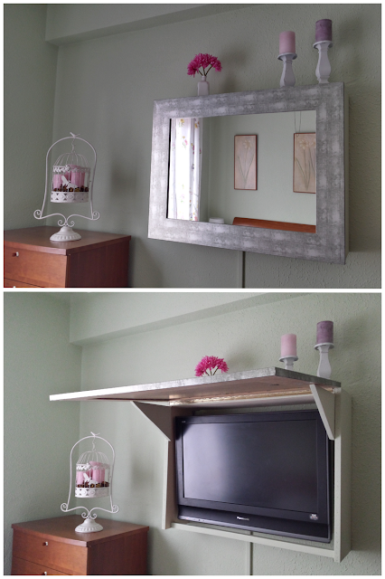 C mo hacer un mueble con espejo para ocultar la televisi n for Mueble ocultar tv