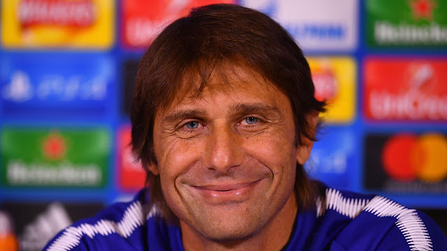 Antonio Conte smile press conference