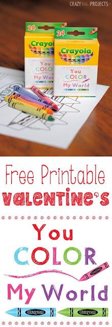 Crayon Valentines, non-candy valentines, kids valentines, DIY valentines