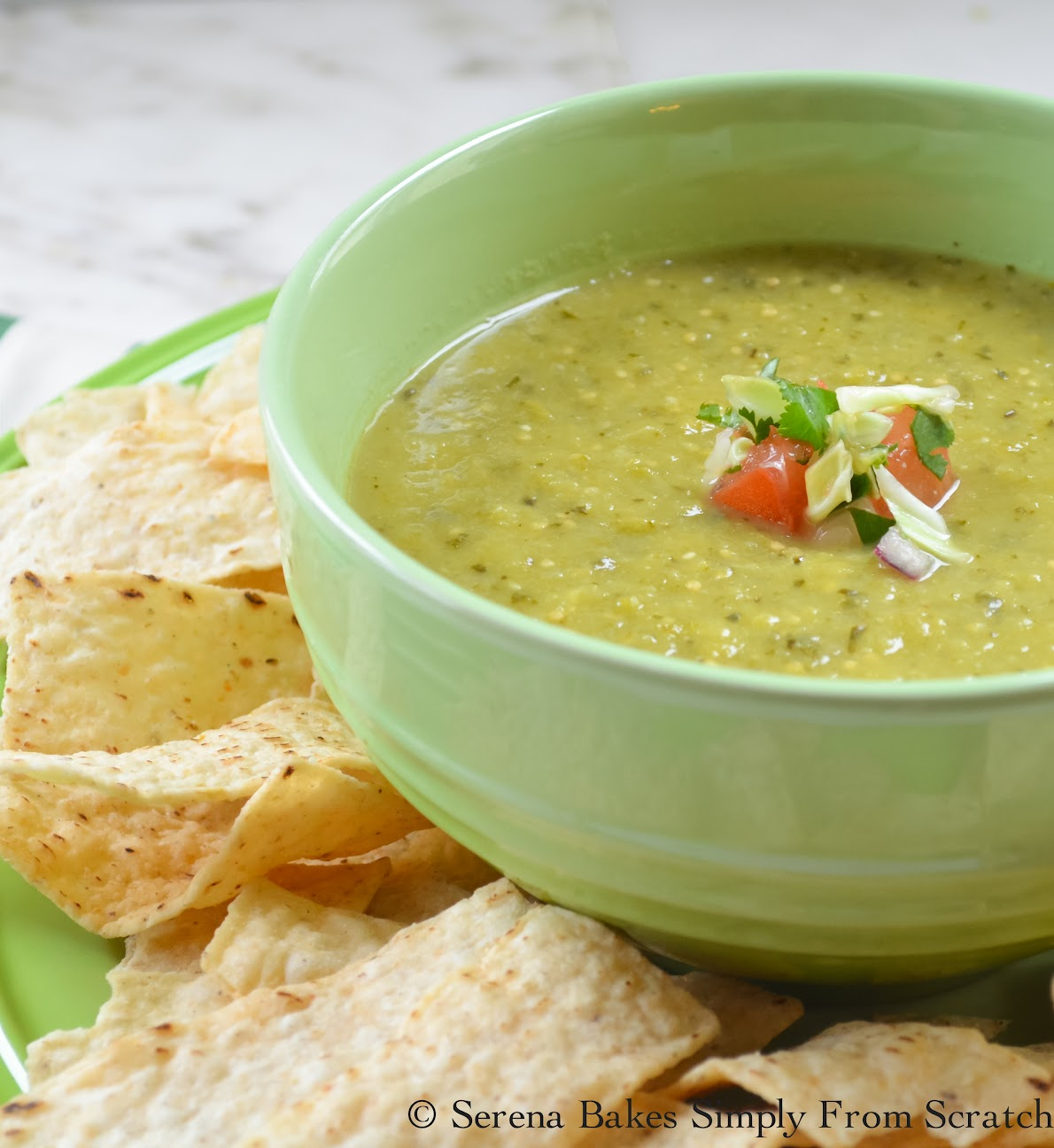 Salsa Verde is great with chips or to make Enchiladas Verde!