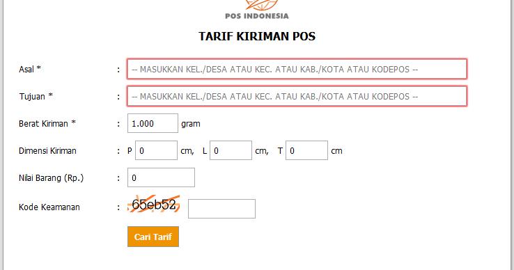 Image Result For Cek Tarif Kiriman Pt Pos Indonesia