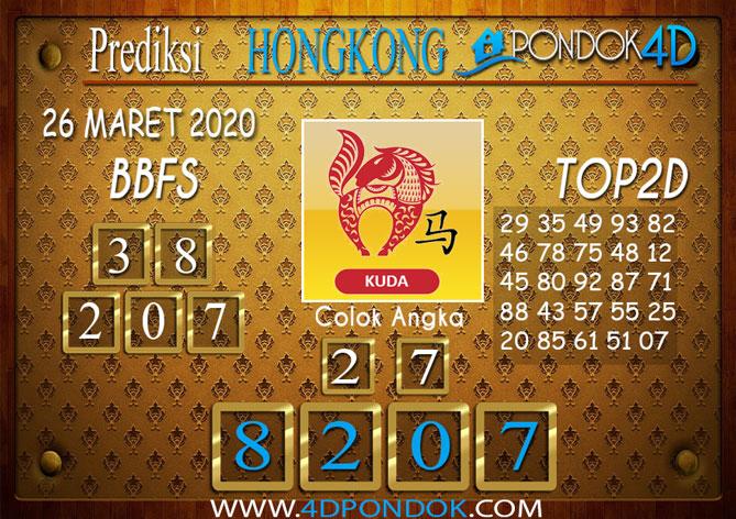 Prediksi Togel HONGKONG PONDOK4D 26 MARET 2020