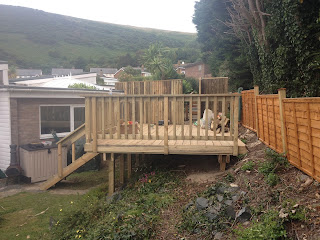 timber deck Aberdovey