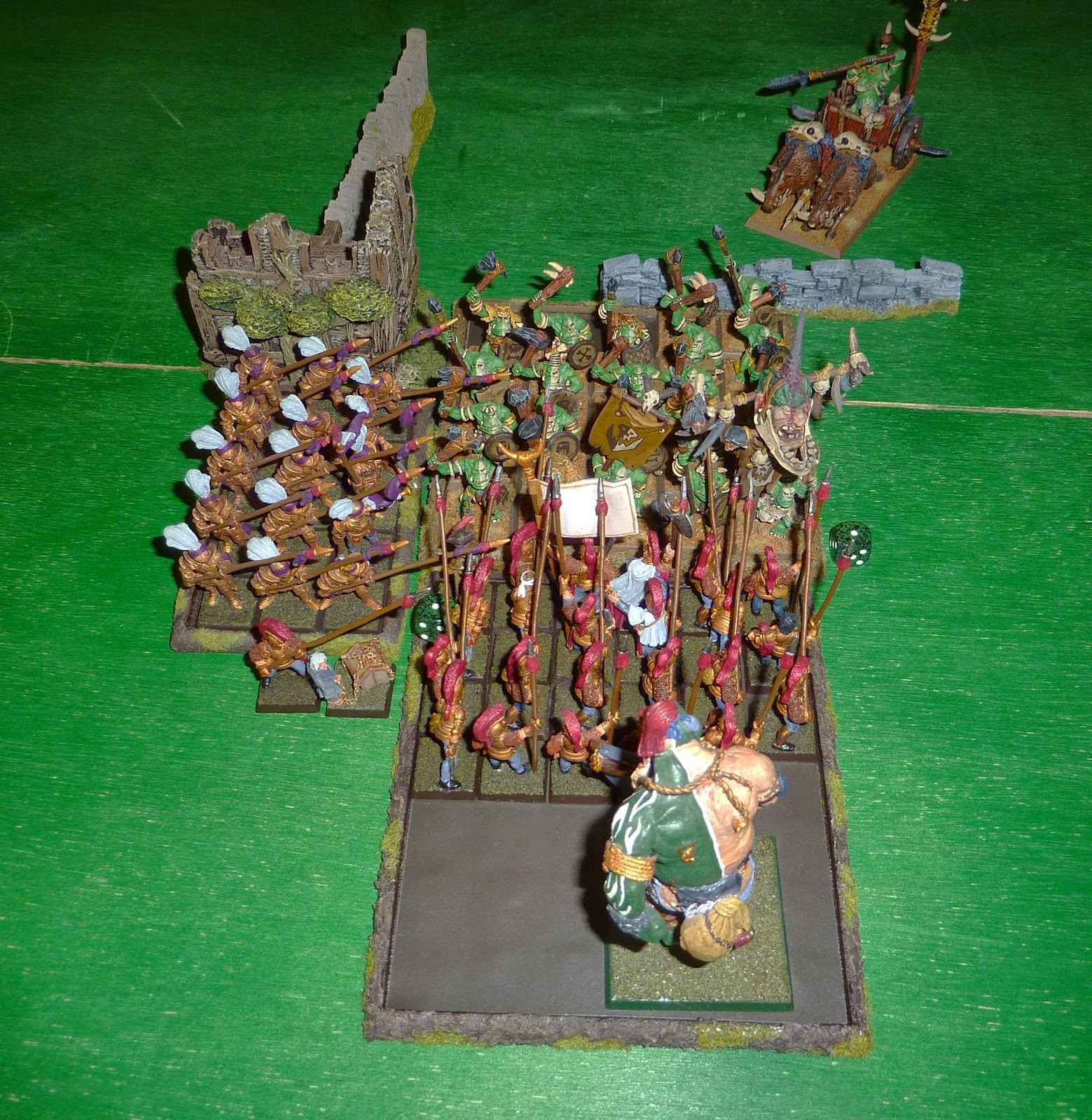A Warhammer Fantasy Battle Report between Empire and Warriors of Chaos.