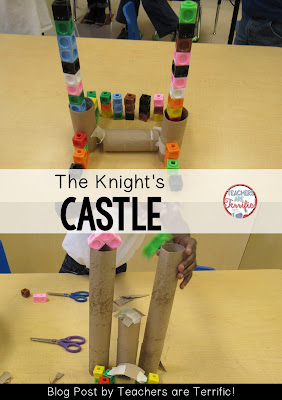First Grade STEM: Use the materials to make a castle! Check the blog post for a book suggestion and a materials list!