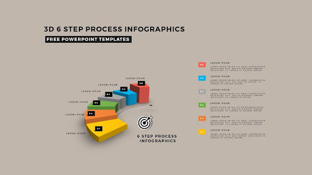 Multi Step 3D Circular Process Diagram Infographic Free PowerPoint Template Slide 9
