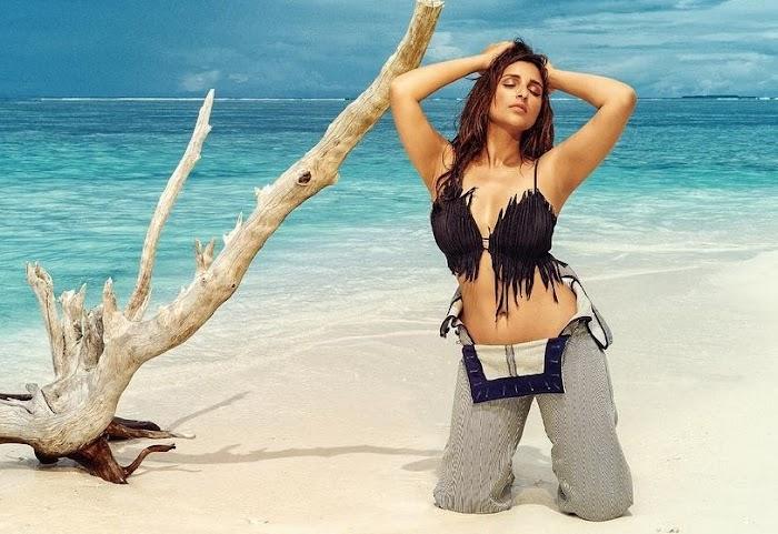 Parineethi Chopra Beach Photoshoot in Bikini and Swimsuit