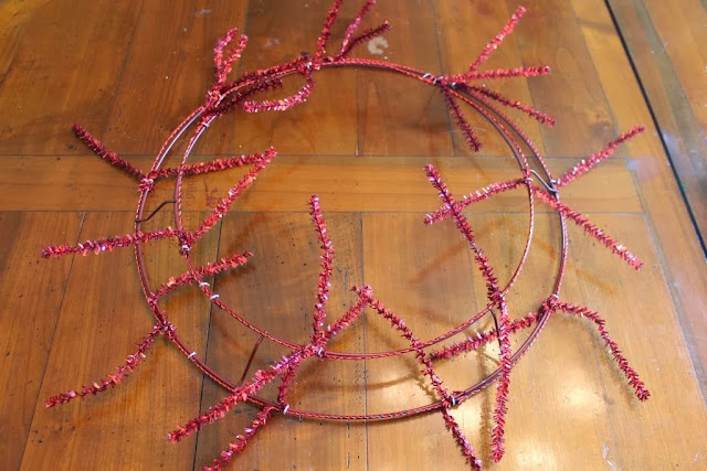 mesh wreath frame