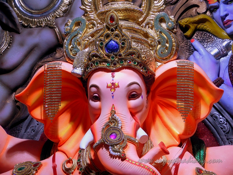 Beautiful Ganapati - Lord of the Ganas, Ganesh Chaturthi Festival Pandal, Mumbai
