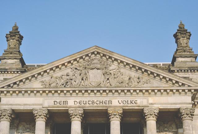 Reichstag motto Dem Deutschen Volke