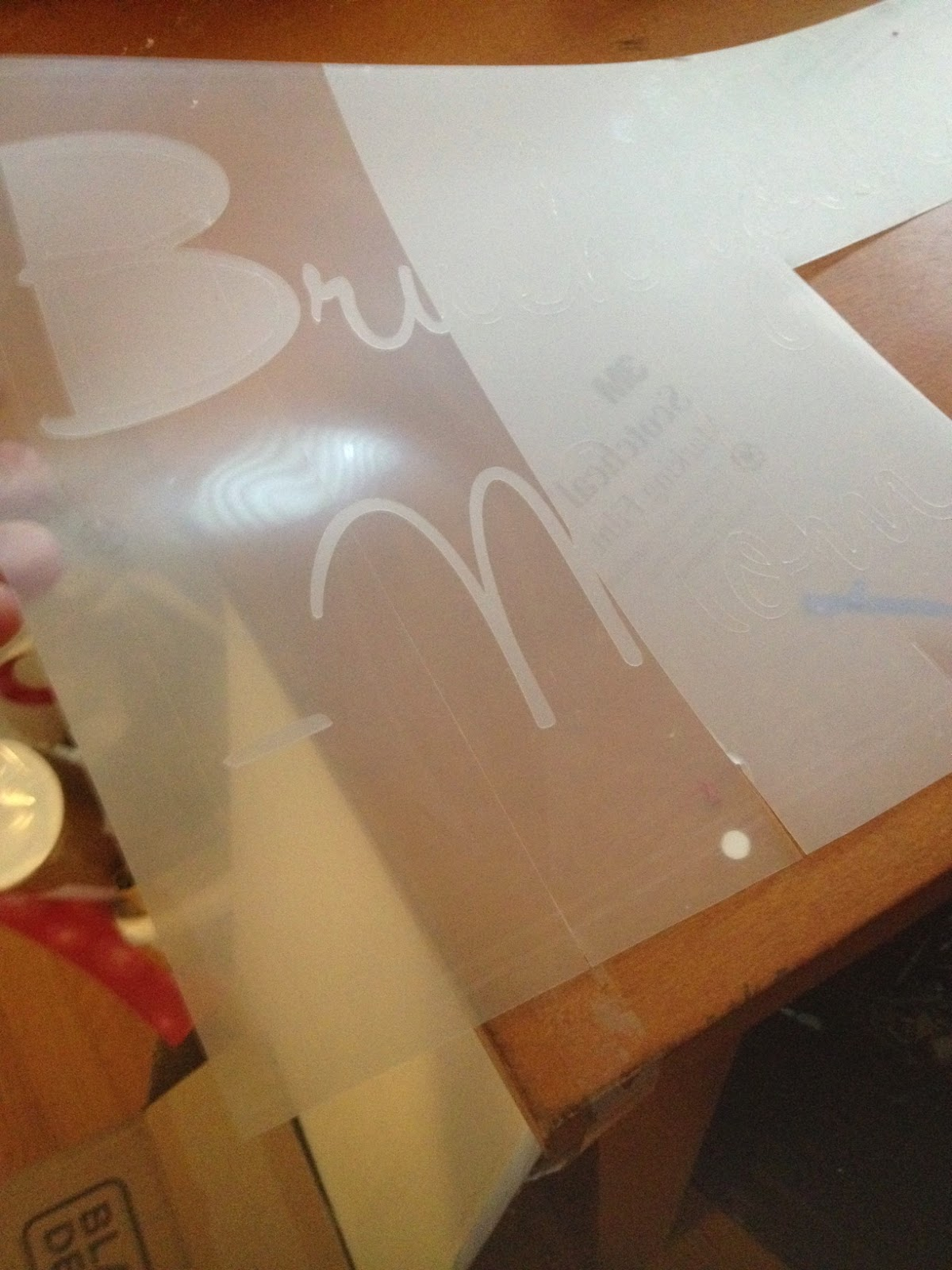 Faux etch glass, mirrors, vinyl, Silhouette tutorial