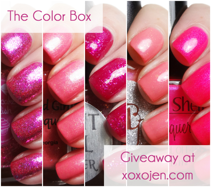 xoxoJen's swatch collage of The Color Box: Pink