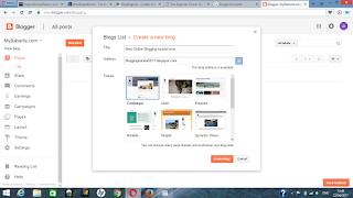 set up blogger site