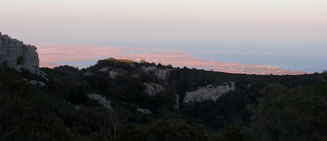 Panorámica del Delta del Ebro desde la Sierra del Montsia