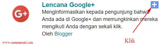 Cara Memasang Lencana Google+ di Blogger