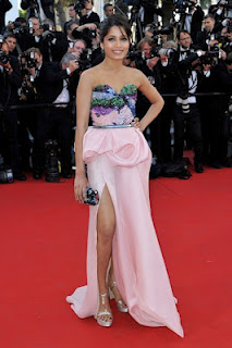 Freida Pinto at the red carpet of  Cannes Film Festival 2012 at Opening Night Dinner