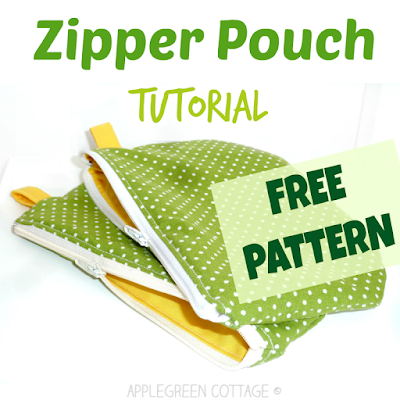 free zipper bag pattern and tutorial