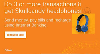 Free Skullcandy Headphones Offer For ICICI Internet Banking User