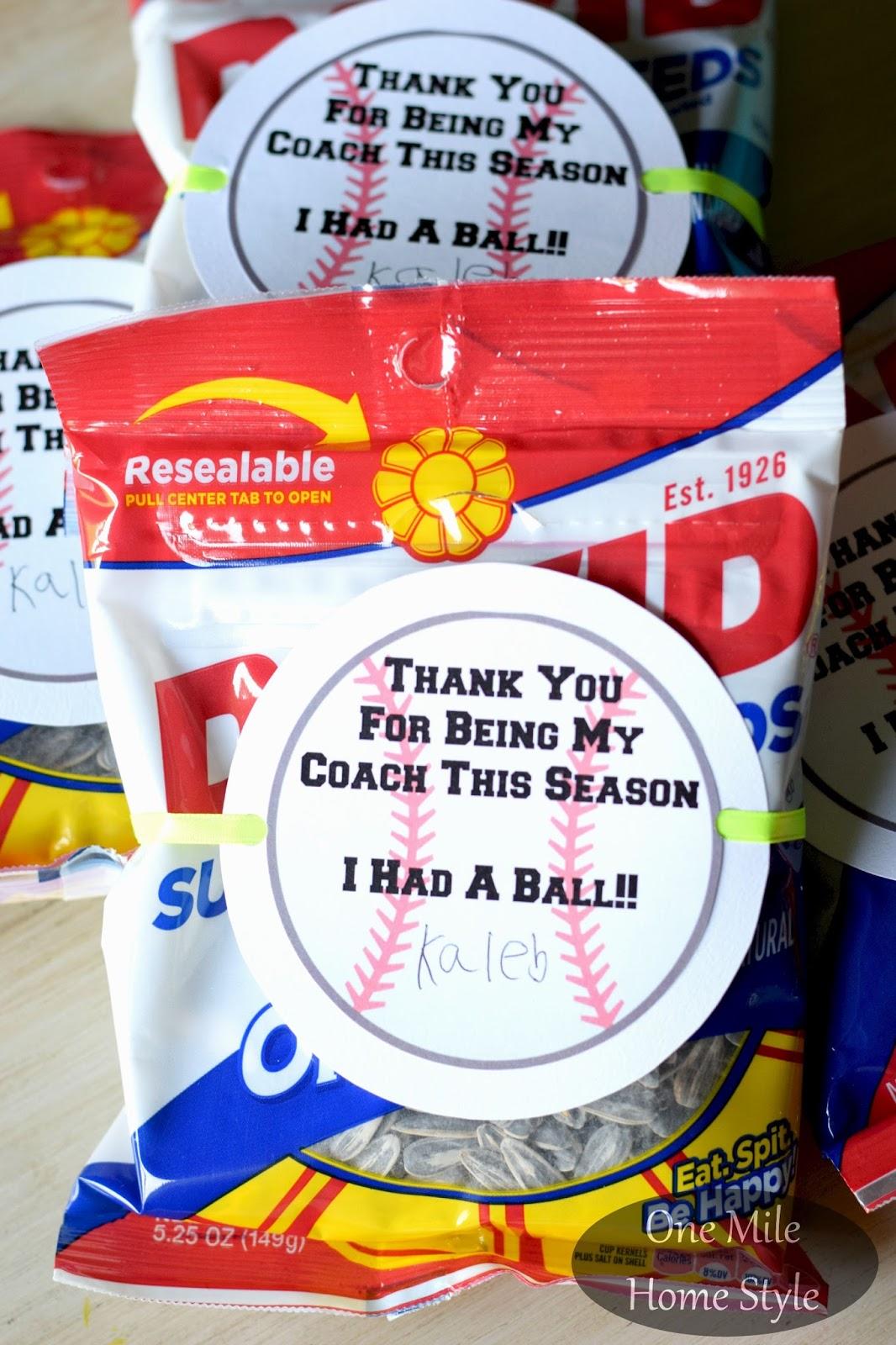 end of the baseball season coachs gift