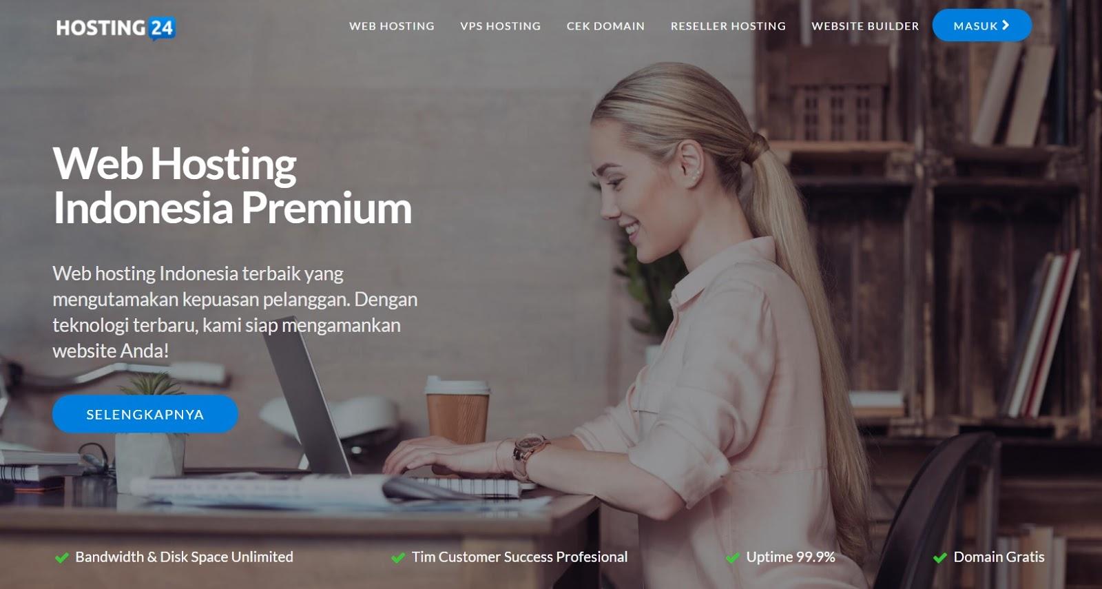 Hosting24 Layanan Web Hosting Indonesia Yang Menyediakan Hosting Premium