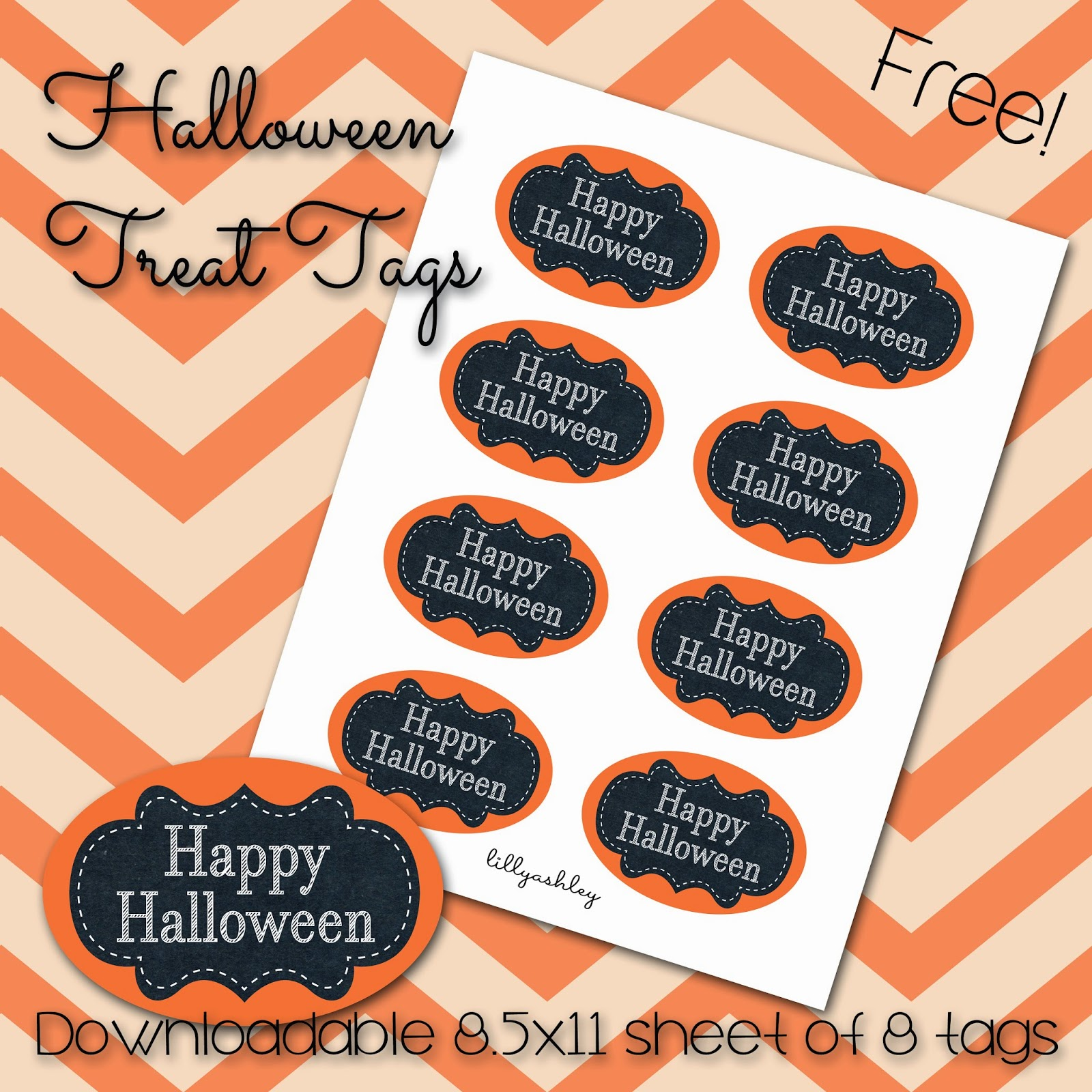 Printable Tags for Halloween Treat Bags