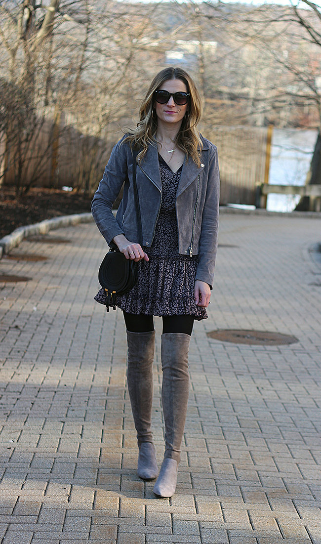 How to style your spring dresses in the winter #winterlayers #springdress #stitchfix
