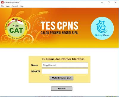 Aplikasi Offline Latihan Simulasi 1 CAT CPNS, https://bloggoeroe.blogspot.com/
