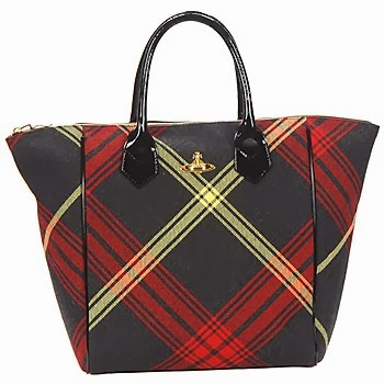 shopping bag tartan