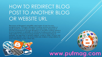 How to Redirect blog post to Another blog or webSite URL