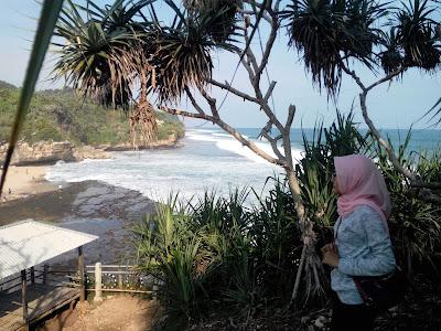 Pantai Tenggole dari Bukit Karang