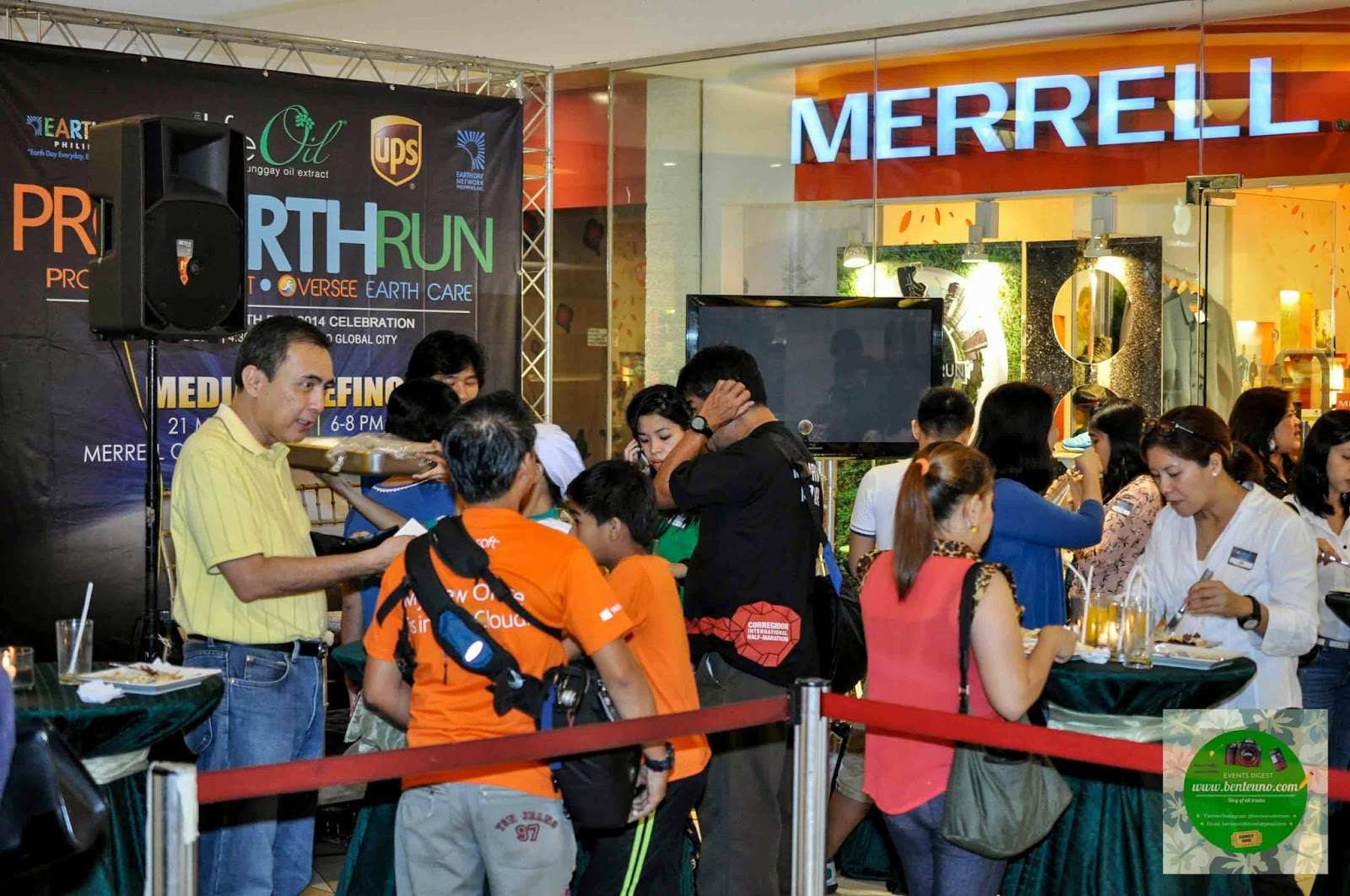 Pro Earth Run Media Briefing at Merrell Concept Store