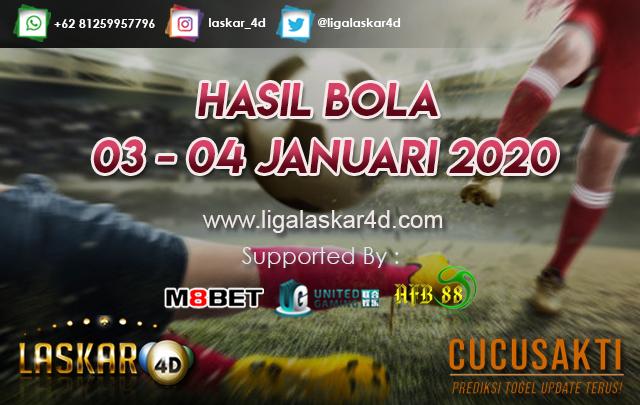 HASIL BOLA JITU TANGGAL 03 – 04 JANUARI 2020