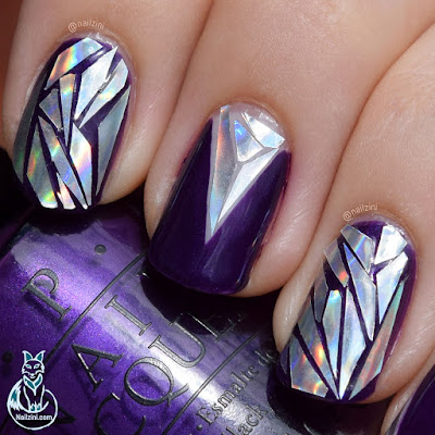 Holographic Shattered Glass Nail Art Nailzini Beauty BigBang