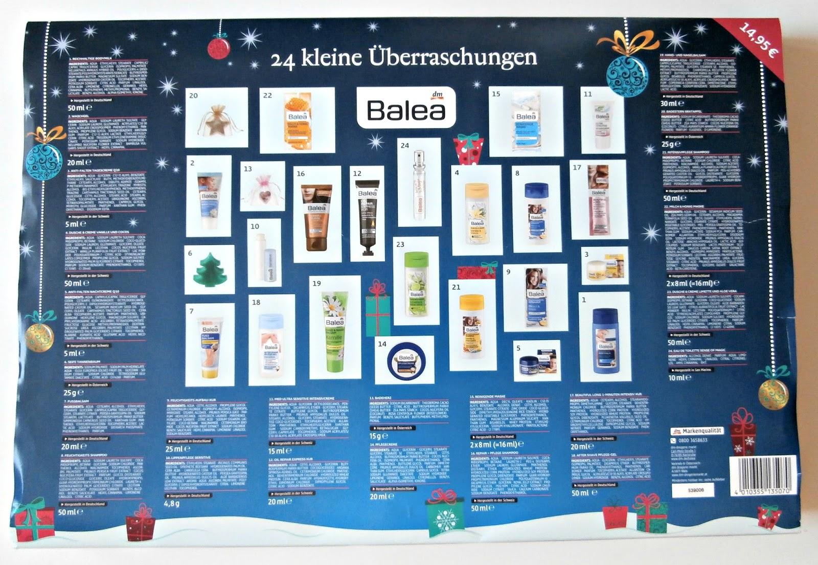 dm adventni kalendar Adventní kalendář Balea | Povídání nejen o kosmetice dm adventni kalendar