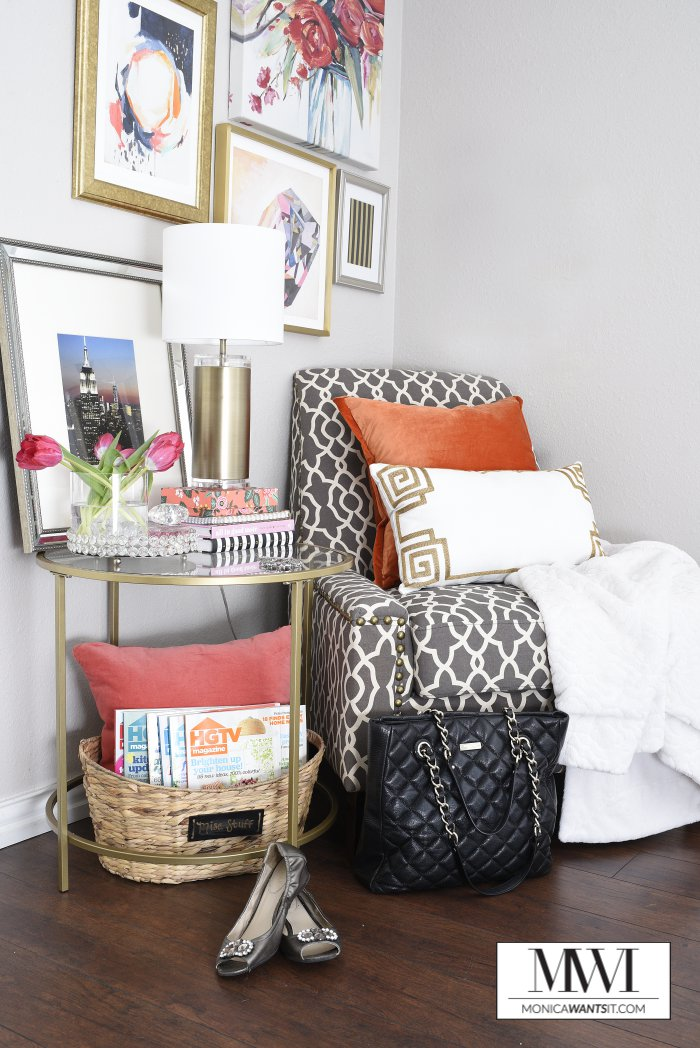 Tips for creating a beautiful and functional bedroom corner space via monicawantsit.com