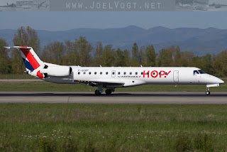 HOP! Air France Embraer EMB-145 at Basel-Mulhouse EuroAirport