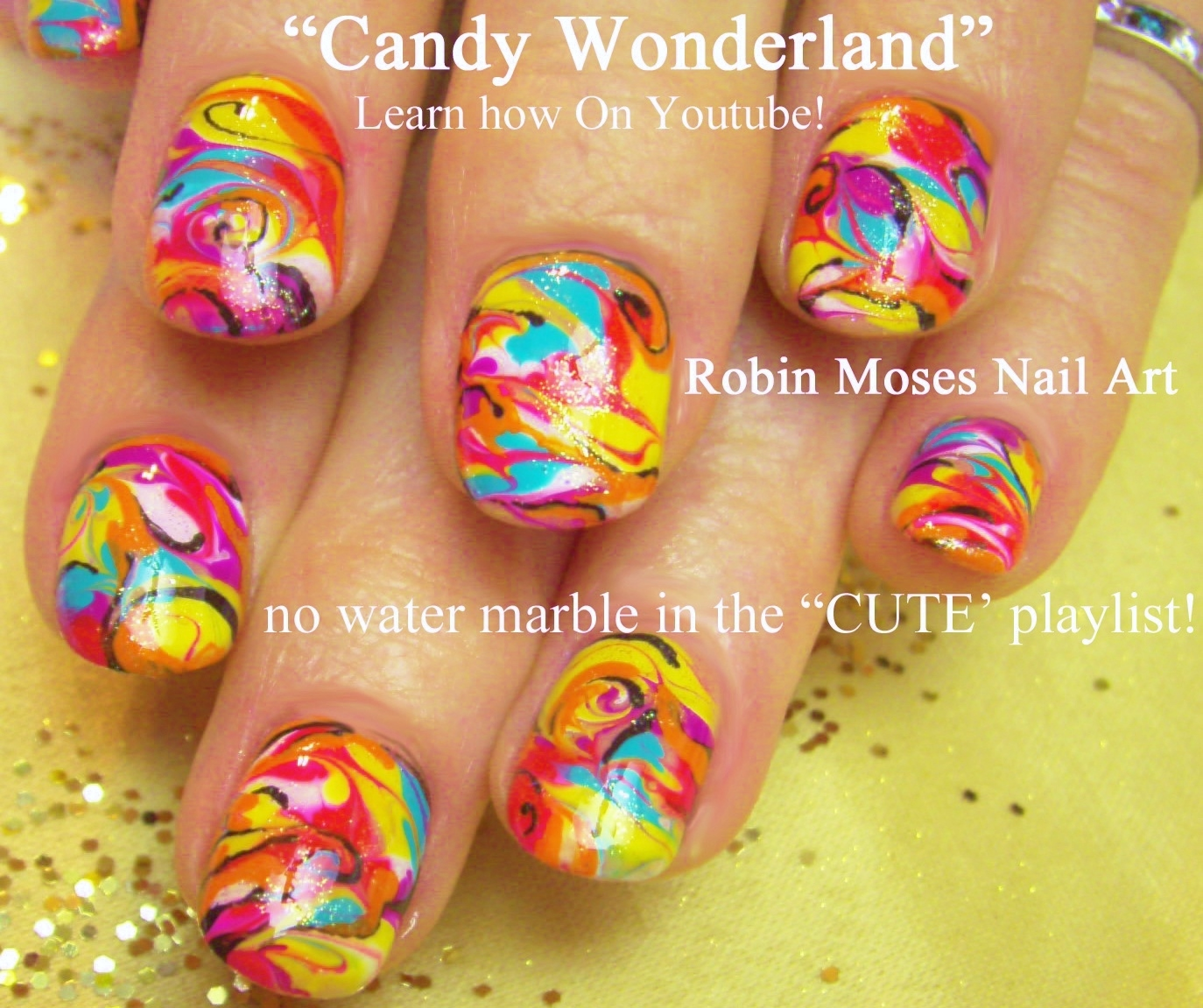 Robin moses nail art no water marble nail art design tutorial flower no water marble swirled nails how to how to make swirled nails how to make nails look marbled prinsesfo Images
