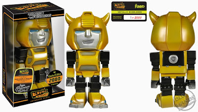 San Diego Comic-Con 2016 Toys R Us Exclusive Hikari Sofubi figure TRANSFORMERS Bumblebee Metallic from Funko