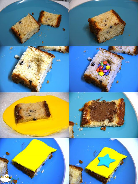 surprise cake step by step