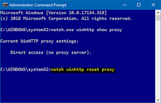 كيفية اكتشاف وإعادة تعيين إعدادات خادم وكيل WinHTTP في نظام التشغيل Windows 10