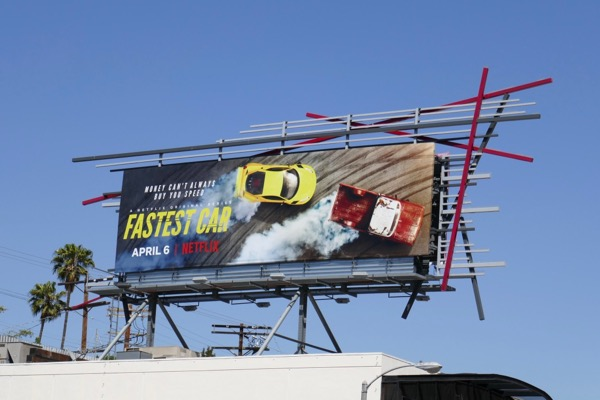 Fastest Car Netflix series billboard