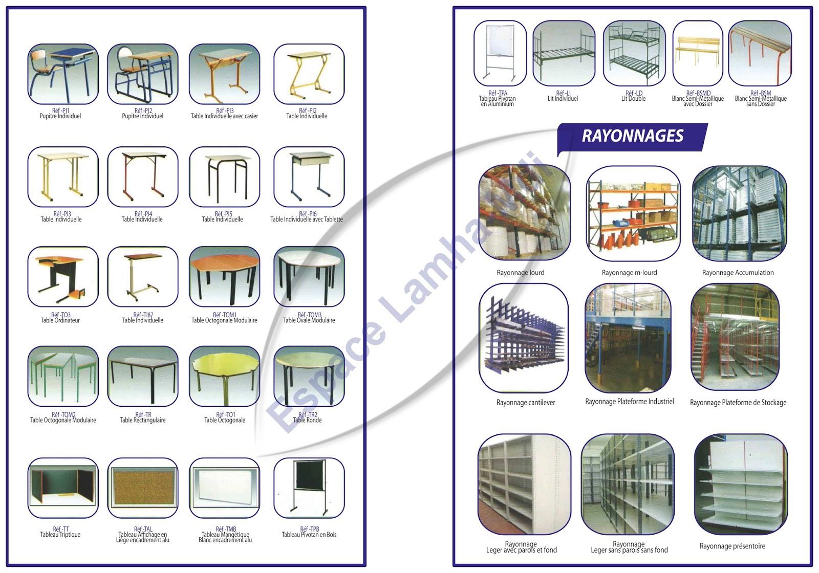 espace lamha mdi sarl rayonnage arrangement vestiaire cloisons amovibles faux plafonds. Black Bedroom Furniture Sets. Home Design Ideas