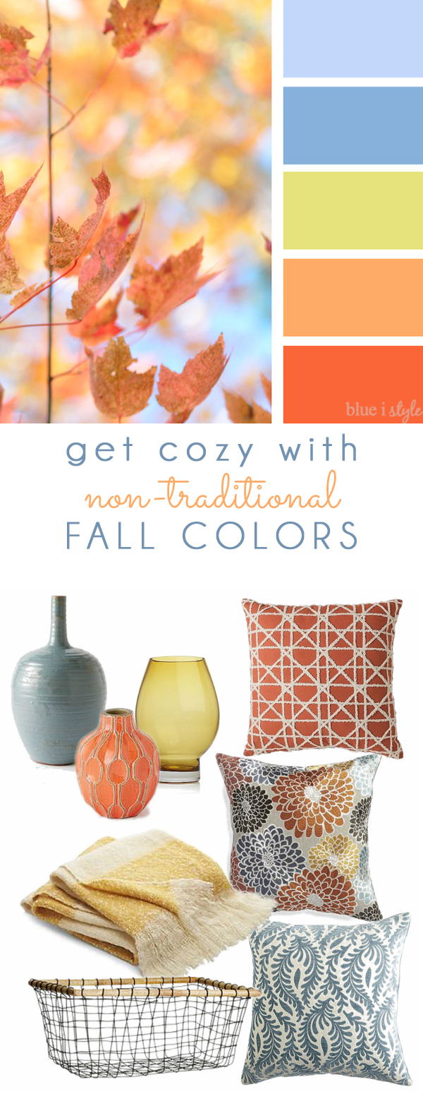 Fall Colors Mood Board Pastel Coral