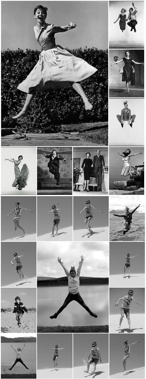 Jumpology Halsmana inspiracją dla moich fotografii skaczących dzieci