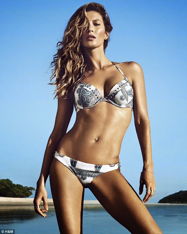 Gisele Bundchen's sizzling swimwear shoot for H&M revealed