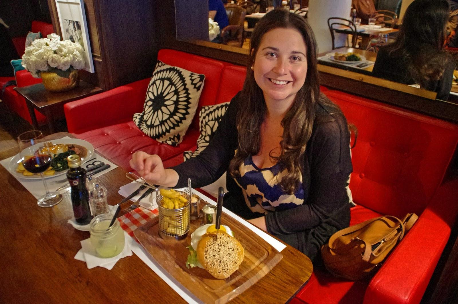 Simone having dinner at Brown's Central Hotel Lisbon Bistro
